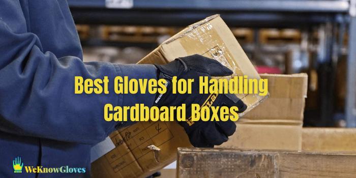 best gloves for handling cardboard boxes